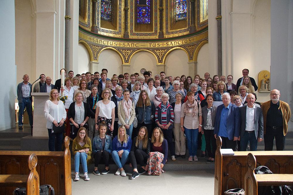 Mit 86 Sängerinnen und Sängern war der Chor am Mallinckrodt in Hamburg.