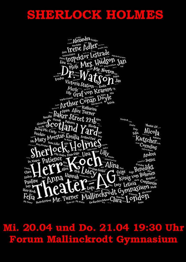 Plakat-Schdel Sherlock Plakat Sherlock Holmes Sherlock