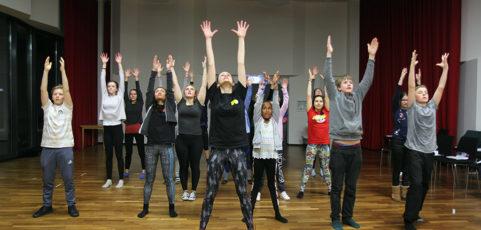 Fahrt der Musical-AG: Probe für ein emotionales Stück