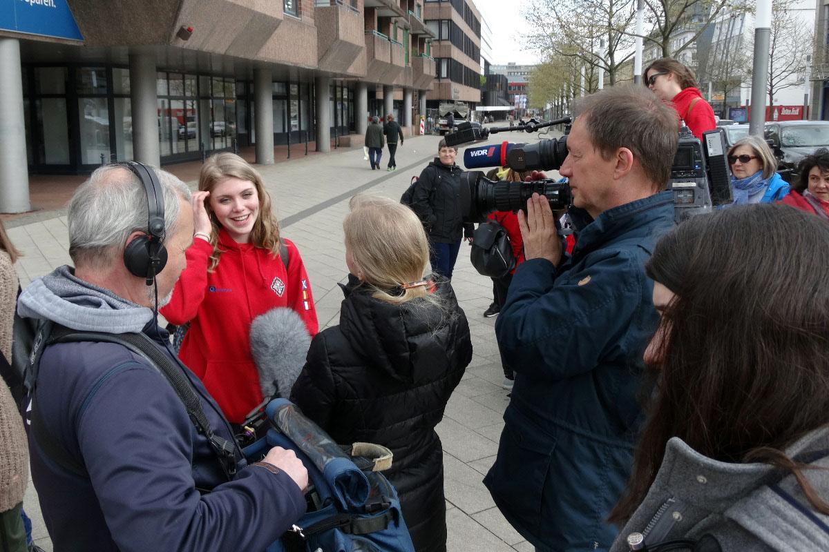 Tag 4 in Dortmund: Besuch vom WDR