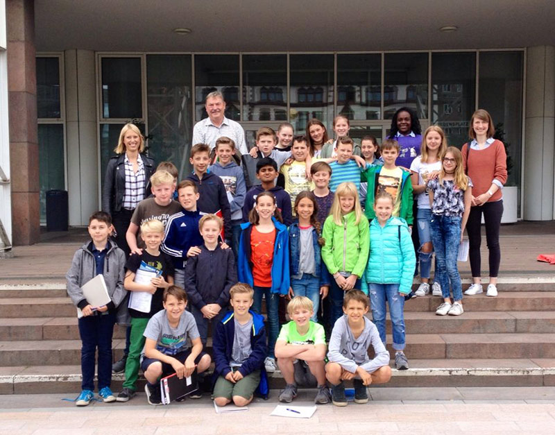 Klassen 5b und 5d zu Besuch im Dortmunder Rathaus