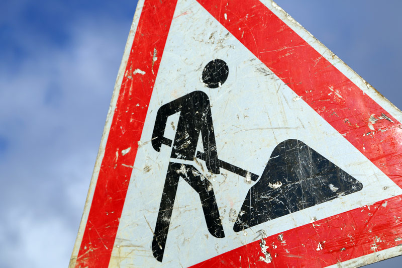 Baustelle: Verwaltungsbereich acht Wochen gesperrt