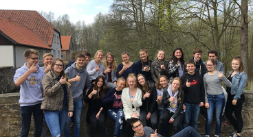Biologie-LK der Q1 in Bustedt (April 2018)