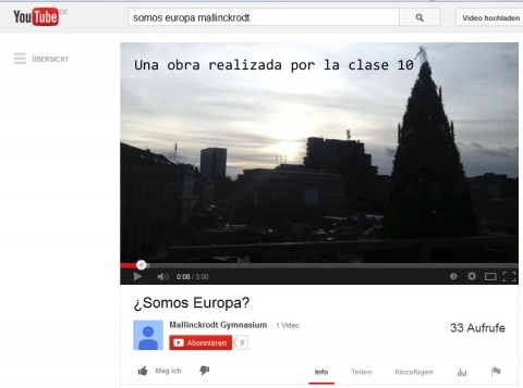 Spanisch-Kurs nimmt an Handy-Video-Wettbewerb teil